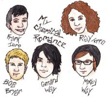 MCR Cartoon study by CaptainKPeanuts