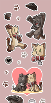 Junapuppy Cheetokitty Stickers by silverava