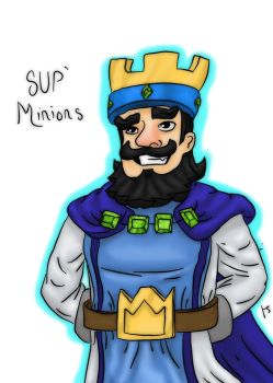 Clash Royale King by kevinjorg