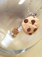 Cookies and Milk Necklace by kawaiibuddies