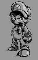 SMB-SSB: The Smash Brother-Inks and Lighting by SkipperWing