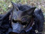 Dragon Age Inspired Dread Wolf Leather Mask by b3designsllc