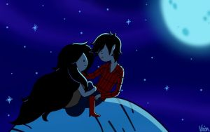 Request: Marshall Lee and Marceline! by AndiScissorhands