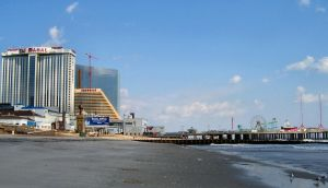Atlantic City Beach Morning by Mindwerkz