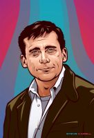 Steve Carell portrait by Cloxboy