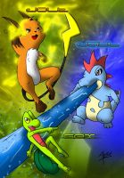 Jolt, Jaul, and Gex by Arbok-X