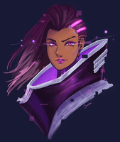 Overwatch: Sombra by Mikouchan