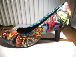 Super hero shoes by Animalcrackers73