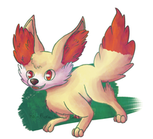 fennekin by Heatherblaze725