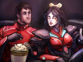 A Night In The Cinema by Valong