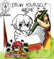 KG: Draw Yourself meme : Natsuo by Mellobo