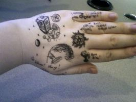 Tattooing Boredness... by AM-Nyeht