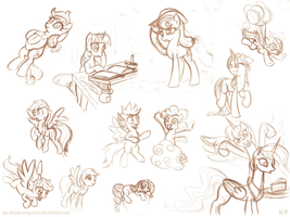 Random Pony Sketches 5 by KP-ShadowSquirrel