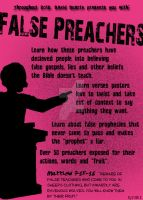 False Preacher's promo poster by ArtNGame215
