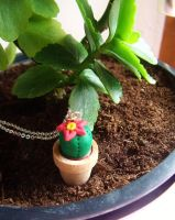 Cactus in a pot necklace by curry-brocoli