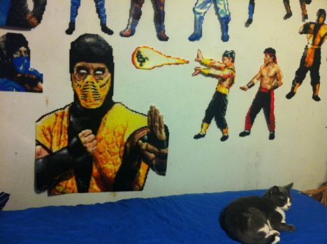 SCORPION MORTAL KOMBAT II BEADS ALMOST COMPLETED by Buck-Chow-Simmons