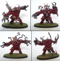 The Avalanche of Gore, Chaos Spawn of Khorne by Majere613