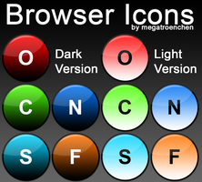 Browser Iconpack (Glass-Rounded) by Megatroenchen
