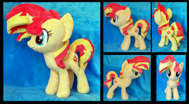 Sunset Shimmer Plushie :Commission: by AppleDew