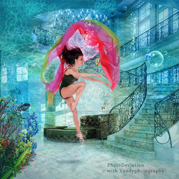Ballerina and the Coralfish by PhotoDeviation