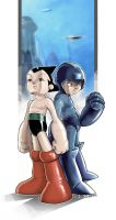 Astroboy and Megaman by ImRoGeR