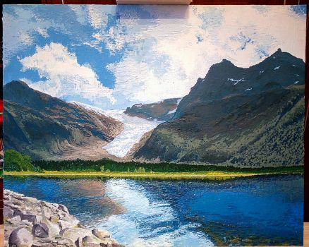 Svartisen, Norway. Oil paints on canvas by ult1mate
