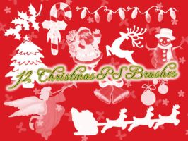 Christmas Photoshop Brushes by petermarge