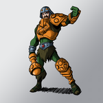 Digi-Ink Experiment, Man-At-Arms by KrisSmithDW