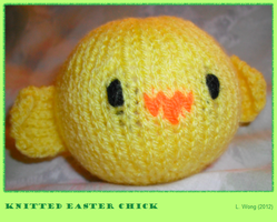 Knitted Easter Chick by Stitch-Happy