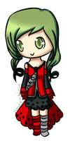 Green haired gurl o 3o by Frostielichious