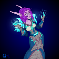 Frost Mage by halflingsera
