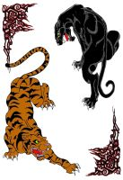 Big Cats-Color by SmoothRaven7