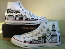 Chicago skyline commission by Maritzy