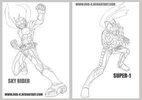 Commission 3 : Sky rider and super one by Rud-K