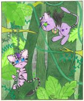 Joey and Jake in the Jungle by johwee