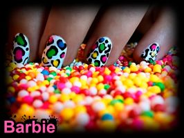 Colored Mottled Nails by BarbieNailArt