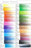 Derwent Aquatones color chart by robertsloan2