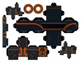Tron Legacy Red Orange Program by mikeyplater