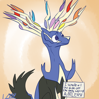 Bad Xerneas by LordMoonBiscuit