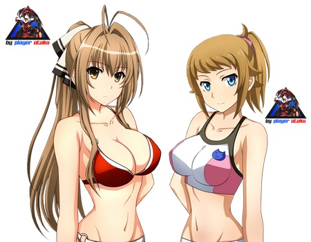 Amagi Brilliant Park - Gundam Girls [Render] by PlayerOtaku