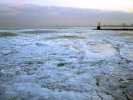 Frozen Lake Michigan by ExplodedSoda