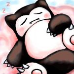 snorlax on a cloud by SailorClef