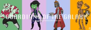 The Guardians of the Galaxy and Bravest Warriors by GingerBaribuu