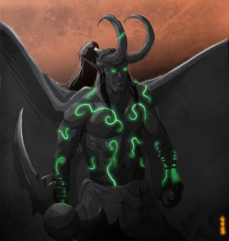 Illidan Stormrage by NeterG