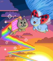Nyan Cat and Catbug BFFs by Wonderwig