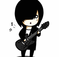 Chibi Guitar Animation by x-BlueberryHeart-x