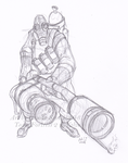 TF2 Pyro -sketch- by birdofyore