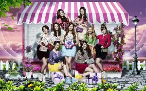 Snsd:pink park by Jover-Design