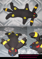 My Custom Umbreon Plushie by ShroudofShadows