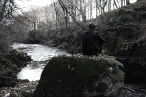 Watching The River, Edzell, Scotland by Emmwah